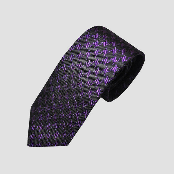 English Woven Silk Houndstooth Tie