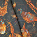 Wool Silk Pheasant Scarf in Midnight Blue