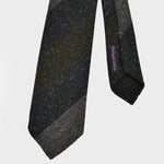 Mellow Block Stripes Hand-rolled Wool Tie