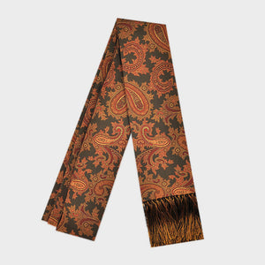Ancient Madder Silk Scarf with Tassels