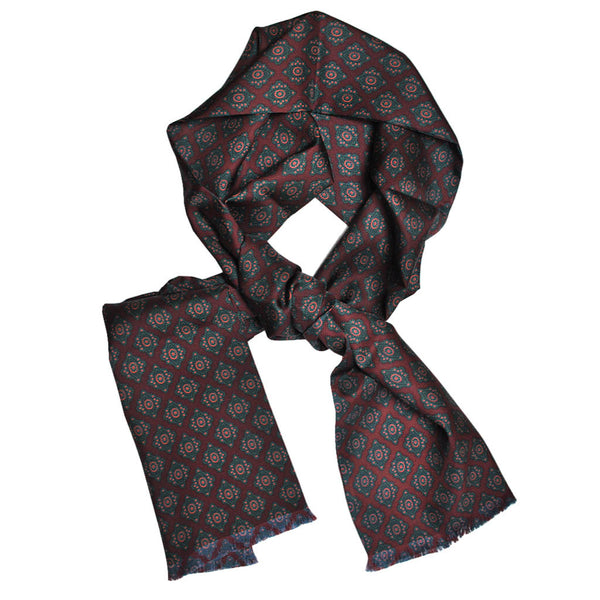 English Silk Diamond Florette Scarf