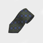 Groovy Aztec Silk Tie in Green