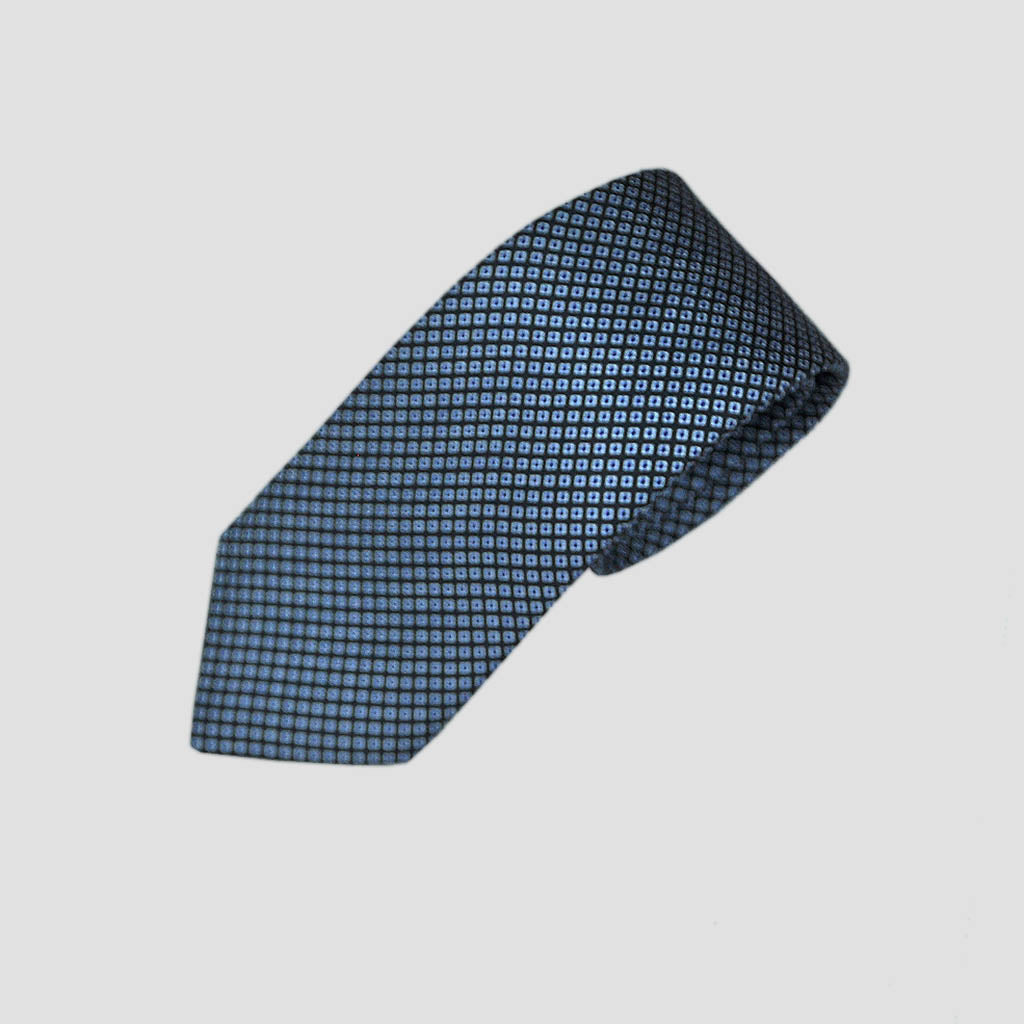 Dotty Neat Repeat Silk Tie in Blue