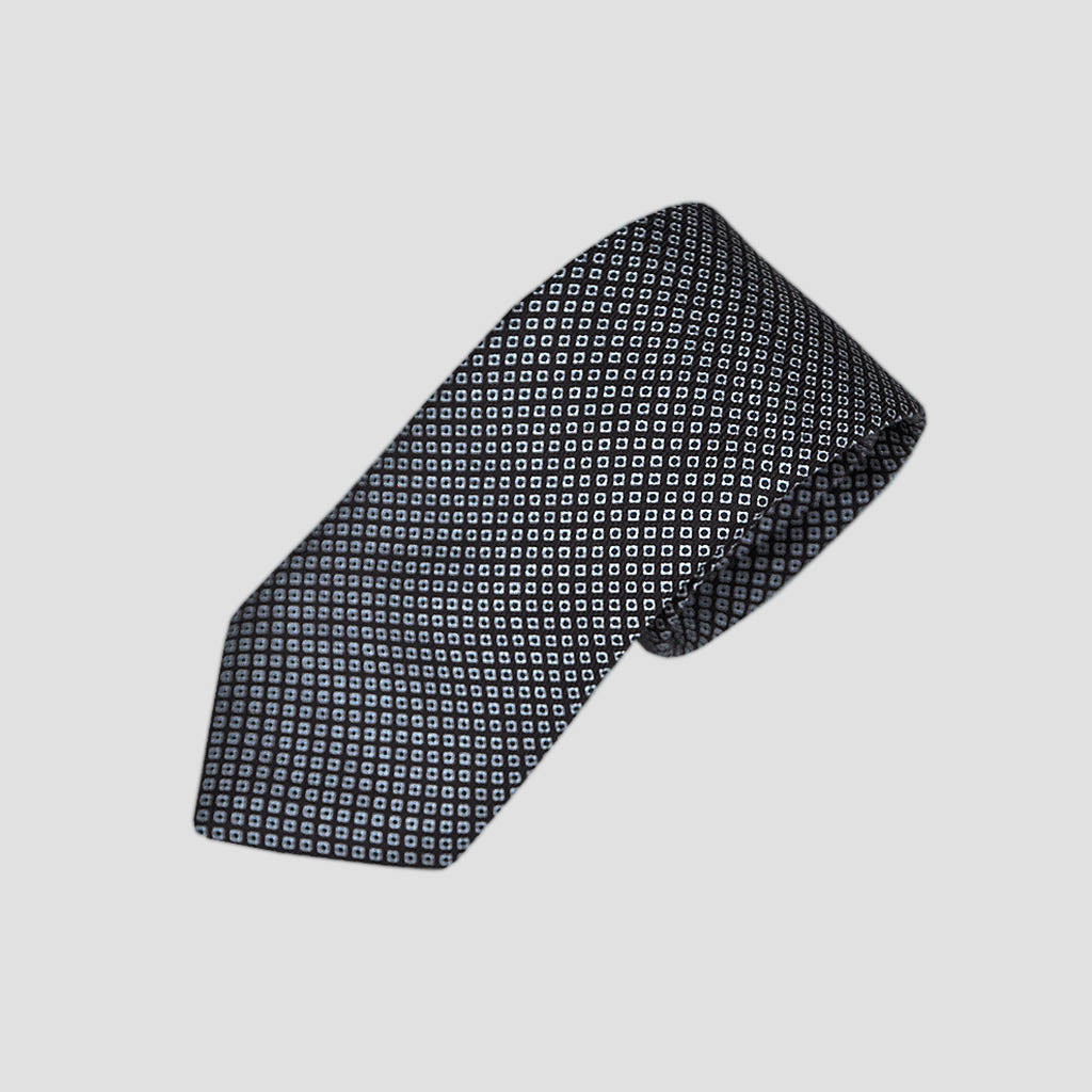 Dotty Neat Repeat Silk Tie in Brown
