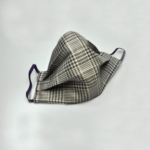 Classic Prince of Wales Check Woven Silk Face Cover