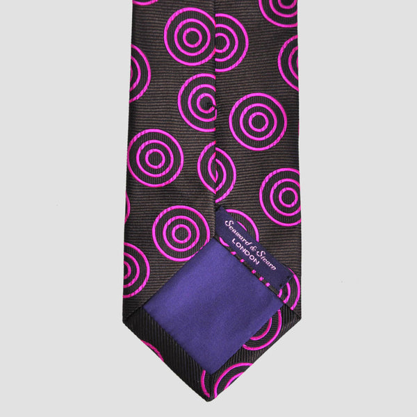 English Woven Silk Target Tie