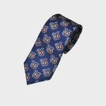Royal Blue Classic Paisley Teardrop Silk Tie