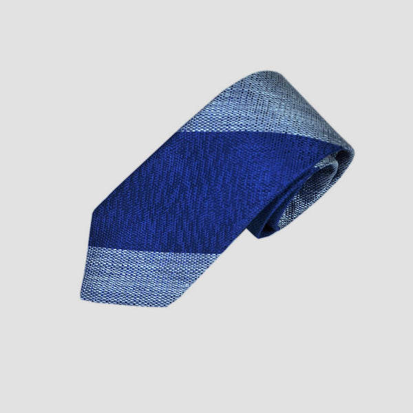 English Tussah Silk Bold Stripes Tie