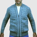 Cable Knit Cardigan in Merino and super soft Baby Alpaca