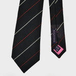 Navy with Pin Stripes Silk Grenadine Tie