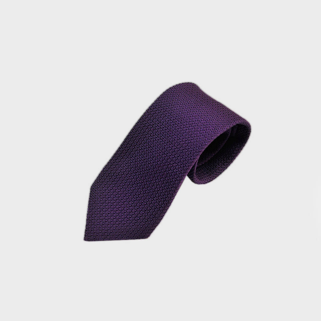 Classic Grenadine Silk Tie in Purple