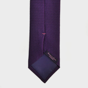Classic Grenadine Bottle Neck Silk Tie in Purple