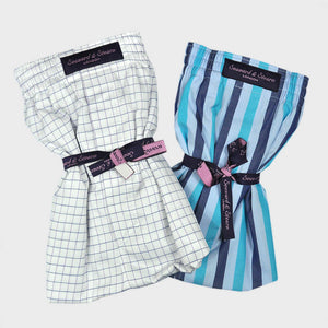 Double Cotton Boxer Short Bundle Windows and Stripes