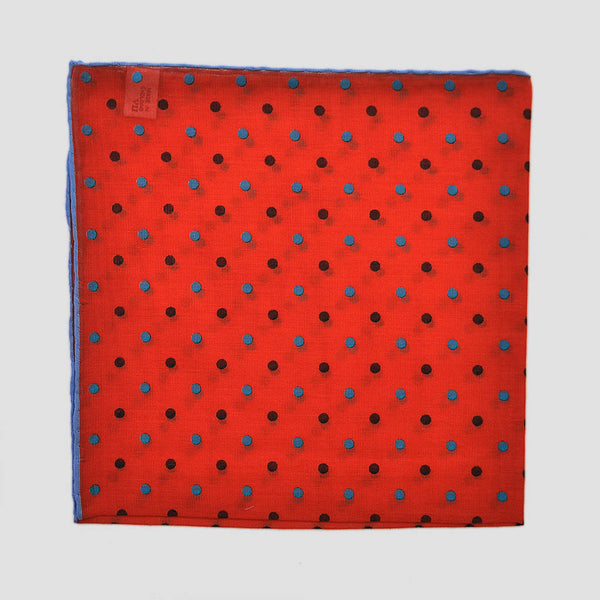 Summer Spots Linen Pocket Square