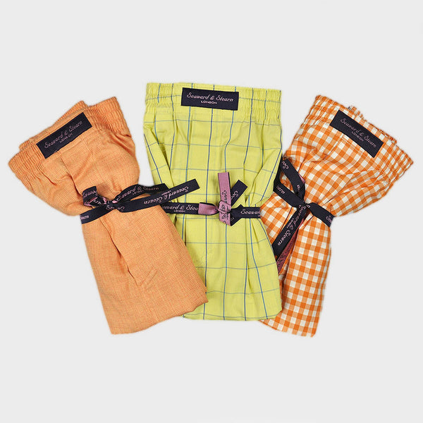 Triple Cotton Boxer Short Bundle with Plain, Window & Gingham