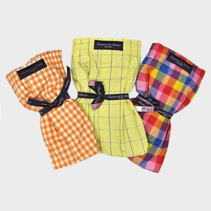 Triple Cotton Boxer Short Bundle with Gingham, Window & Plaid