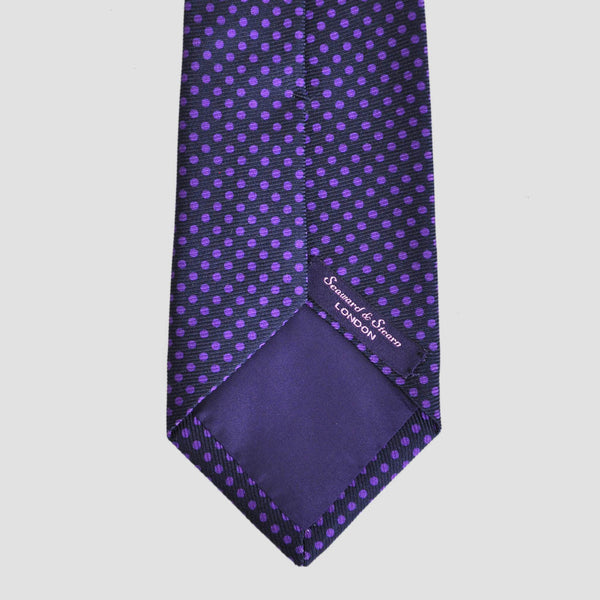 English 50oz Printed Silk Dotty Tie