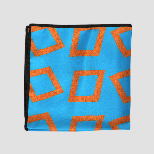 English Silk Groovy Diamond Pocket Square