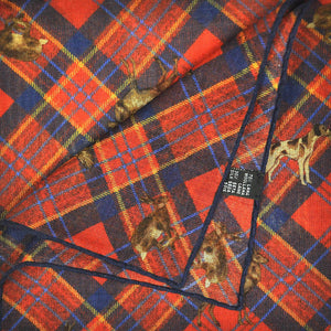 Plaid & Autumnal Life Wool & Silk Pocket Square in Red