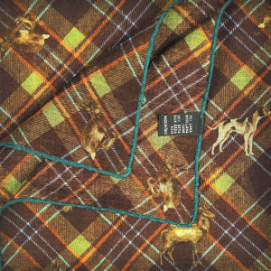 Plaid & Autumnal Life Wool & Silk Pocket Square in Brown