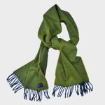 Colourful Winter Scarf in Lime & Blue