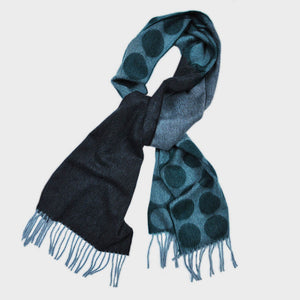 Big Dots Winter Scarf & Brown & Green
