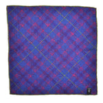 Italian Wool Reversible Mighty Stag Pocket Square