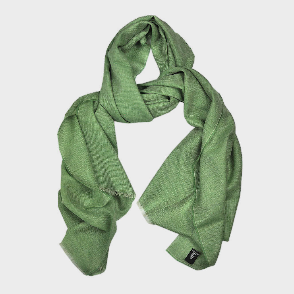 Wool Scarf in Pistachio Green