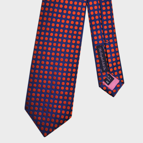 English Woven Silk Neat Spots Tie