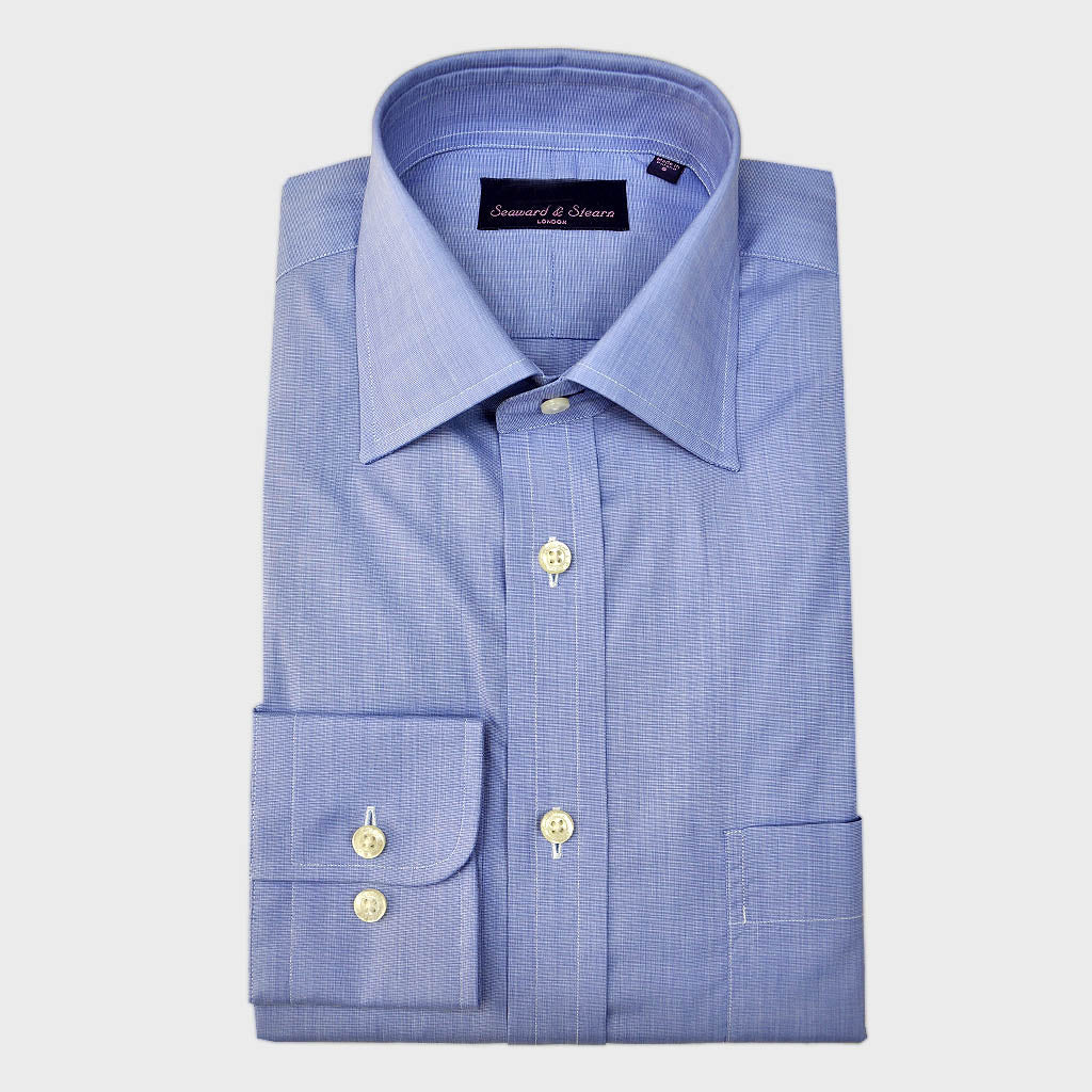 Classic Collar City Shade Blue Cotton Shirt