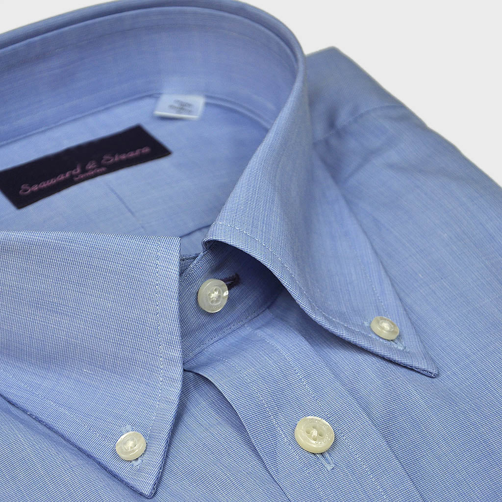 Button Down City Shade Blue Cotton Shirt