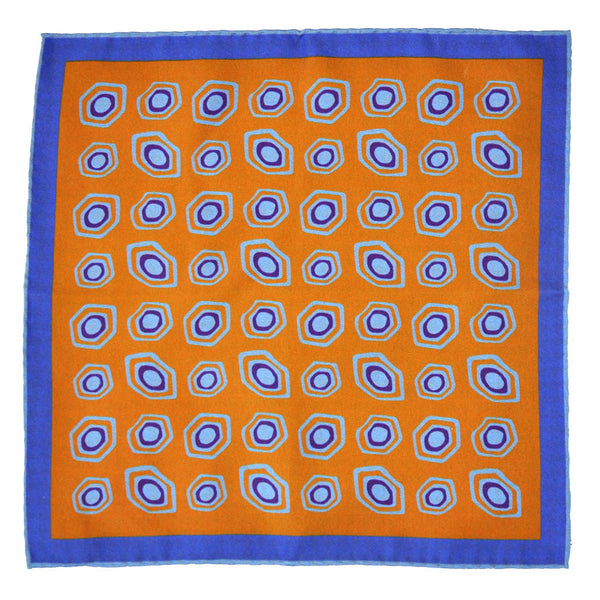 Italian Silk Reversible Pattern Pocket Square