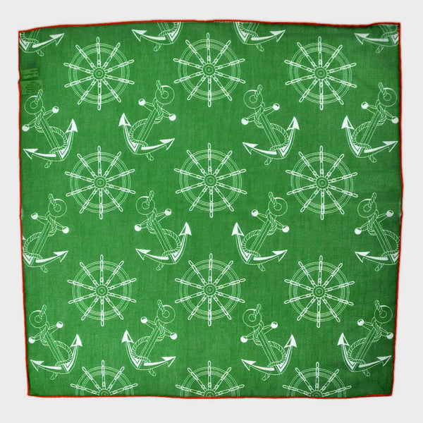 Nautical Pocket Square in Green