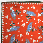 Funky Surfer Silk Pocket Square in Orange