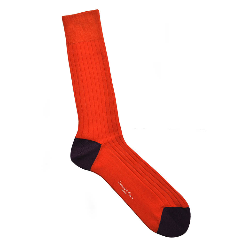 Fine Cotton Ribbed Sock
