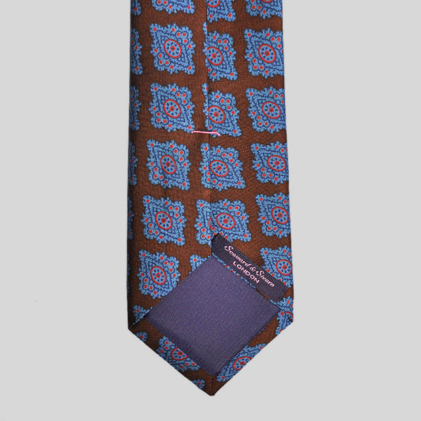 English Ancient Madder 36oz Large Floret Tie