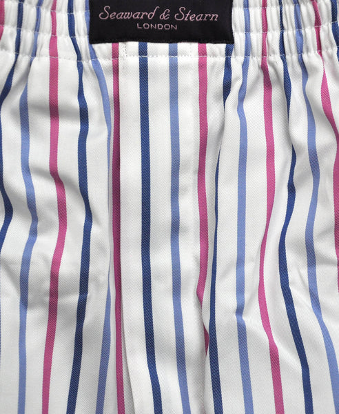 Narrow Stripe Cotton Boxer Short