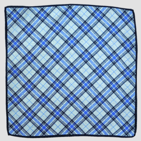 English Silk Jazzy Plaid Pocket Square