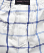 Wide Check Cotton Boxer Short