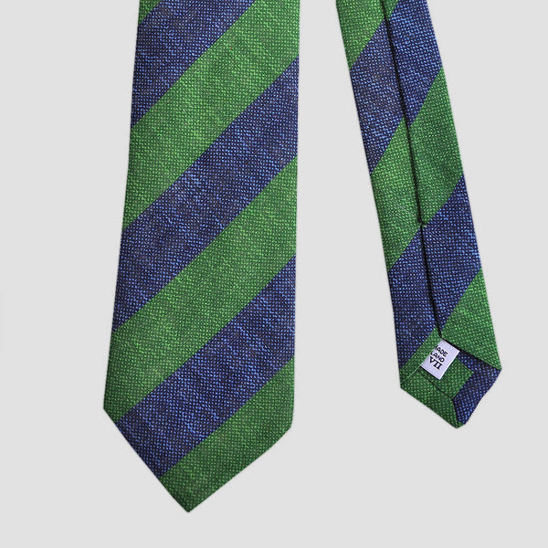 Big Summer Stripes Linen Tie