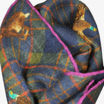 Plaid & Autumnal Life Wool & Silk Pocket Square in Navy