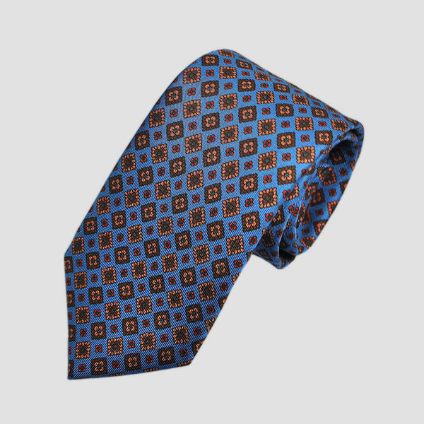 English Ancient Madder 36oz Repeat Floret Tie