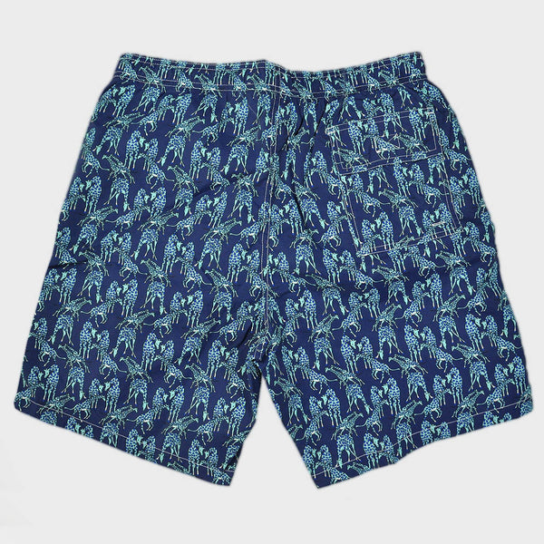 Giraffe Swim Short in Blue