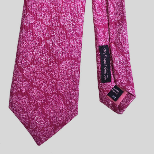 English Silk Colourful Paisley Tie