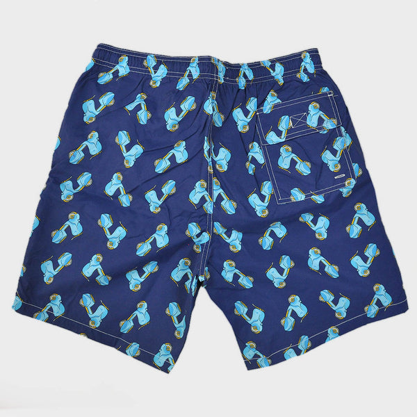 Scooters Swim Short in Blue & Teal
