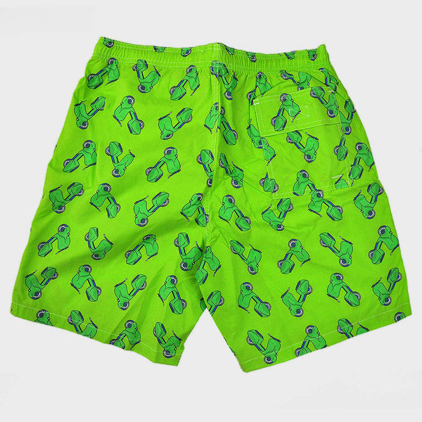 Scooters Swim Short in Lime & Green