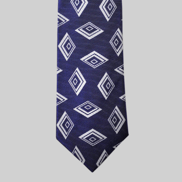 English Woven Silk Cascading Diamonds Tie