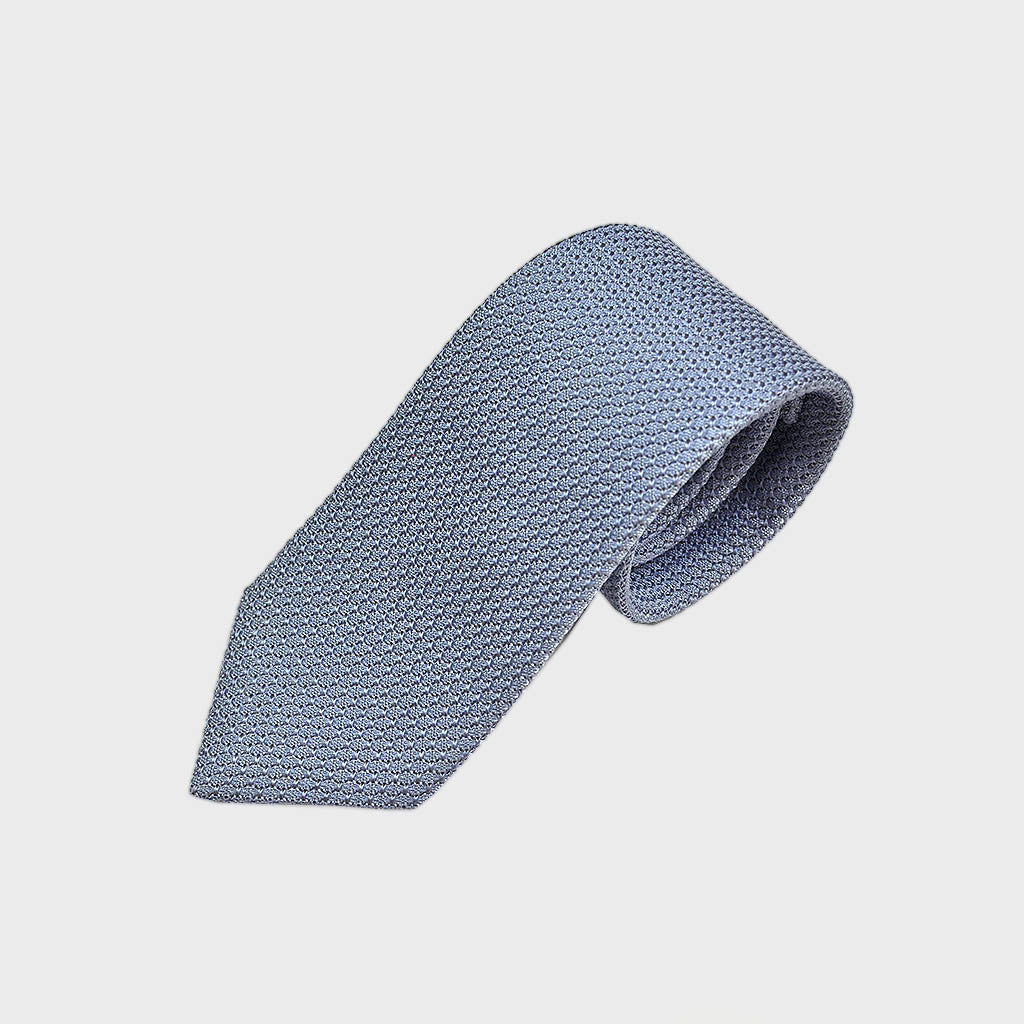 Classic Grenadine Silk Tie in Light Blue