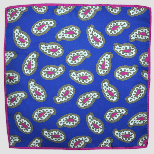 English Silk Paisley Boogie Pocket Square