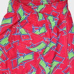 Deck Chair Swim Short in Red & Lime